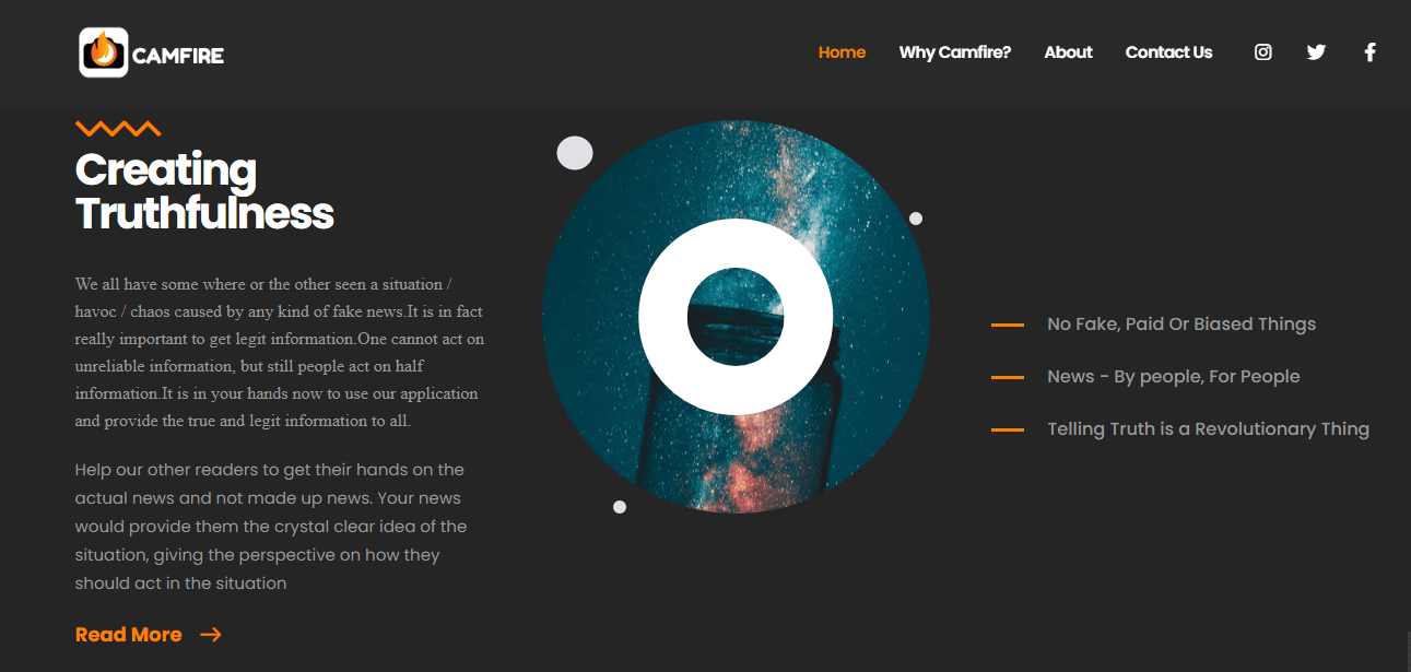 Camfire-website